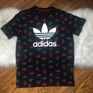 RARE Adidas Men's Trefoil Signature Black T Shirt